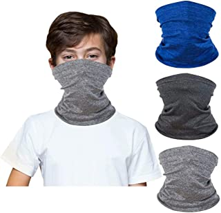 [3 Pack] Kids Face Bandanas Neck Gaiter, Reusable Mask...