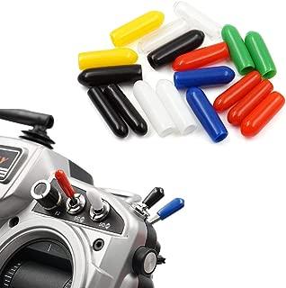 18 PCS Anti-Slipping Switch Rubber Cap Sheath Cover for FrSky X9D QX7 Flysky Spektrum Transmitter