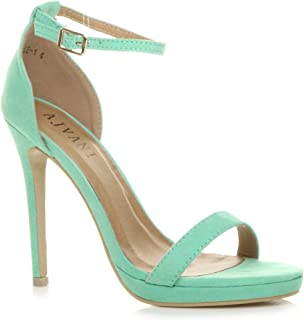 Ajvani Women's High Heel Barely There Sandals Size