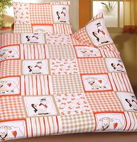 Juego de cama de verano para bebé para niños con diseño de 100 x 135 + 40 x 60 cm, diseño de: caballo + diseño de oveja, protector de pantalla para cama infantil, de microfibra (42920)
