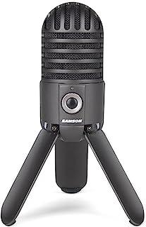 Samson Meteor Mic, Micrófono de estudio (USB), color negro (Titanium Black)