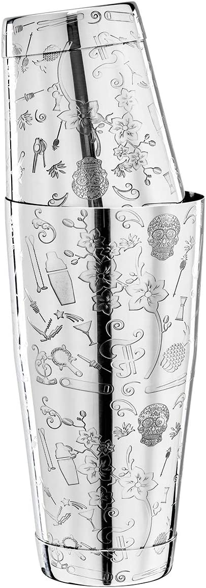 Cocktail Collabo TIN o TIN - Coctelera de acero inoxidable 304, con grabado