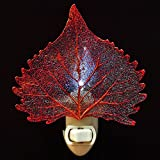 Real Cottonwood Leaf in Iridescent Finish Nightlight