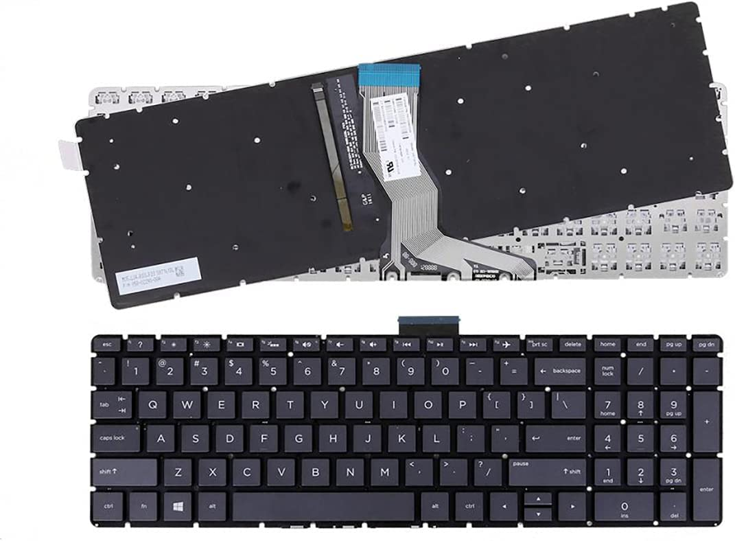 Laptop Replacement Backlit Keyboard for HP Pavilion 15-BW 15-BS 17-BS 17-AK Series, 15-BW004WM 15-BW070NR 15-BW078CL 15-BS013DX 15-BS015DX 15-BS080WM 17-BS020NR 17-AK051NR US Layout Black