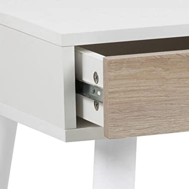 CONCEPT USINE Bureau scandinave avec tiroirs Blanc