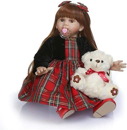 RENYAYA Reborn Baby Puppe Weiße Simulation Silikon Silikon 24 Zoll 60cm lebensechte Junge mädchen Spielzeug handgemachte Weiße Silikon Geburtstagsgeschenk