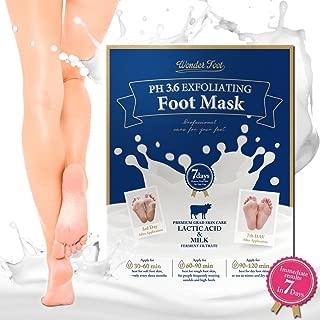 WonderFoot Exfoliating Foot Peel Mask - For Smooth Feet, Dry Dead Skin Treatment w/Lactic Acid & Milk (PH3.6) - Moisturize, Repair, Whitening & Rejuvenate Your foot In 7 Days - 40ml/1.5 oz - 2 Pair