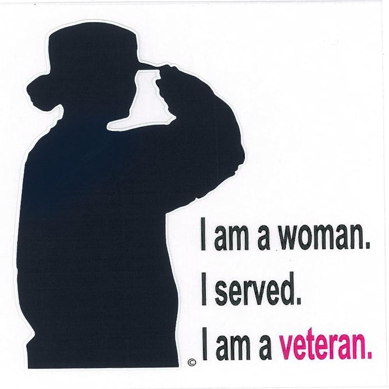 Honor Country Woman Veteran Decal