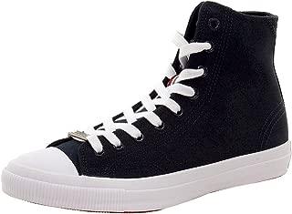 Men's Trophy Series High Dark Navy Cotton Canvas Sneakers Shoes