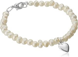 Mud Pie Heart Freshwater Pearl Bracelet