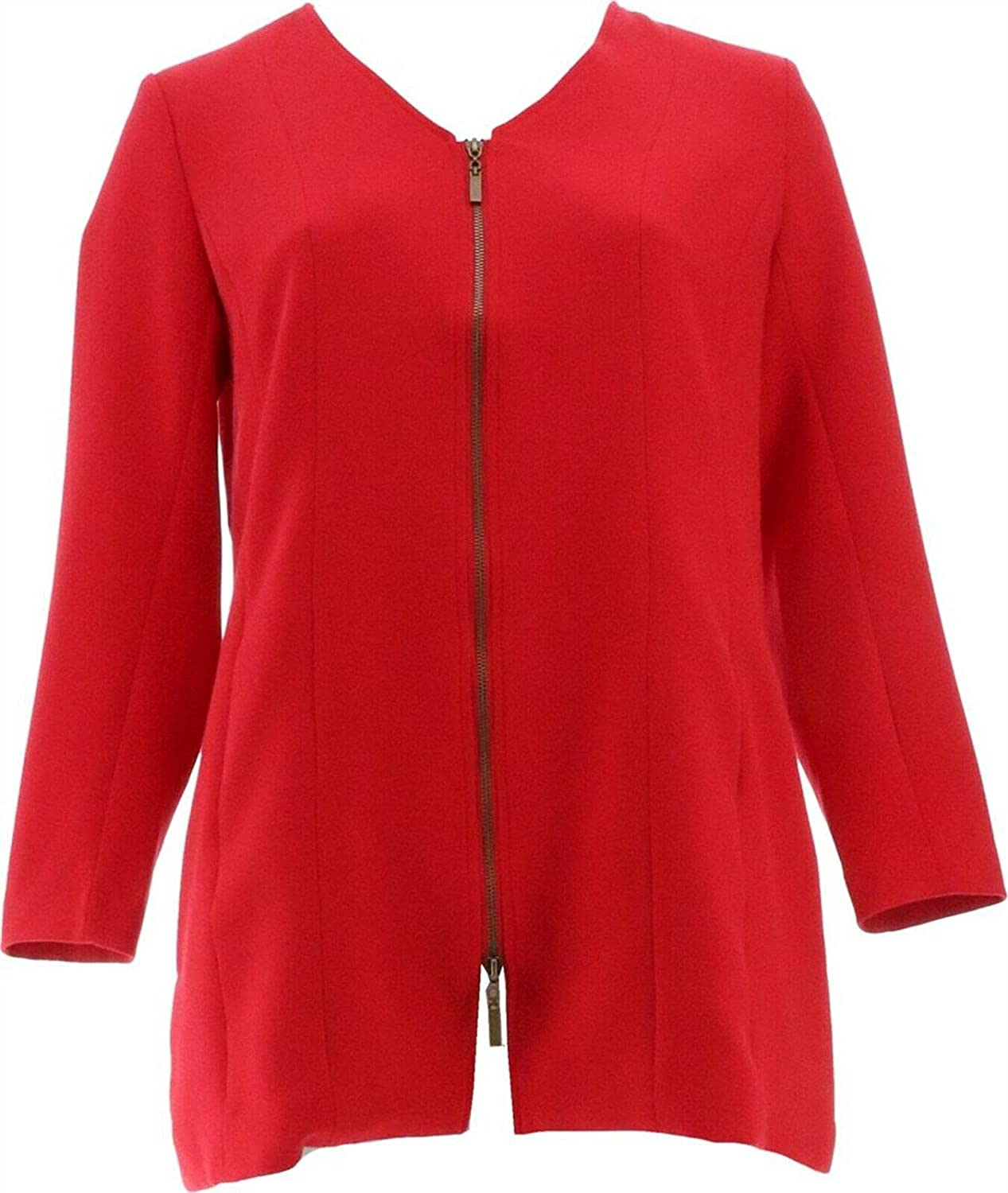 Linea Louis Dell'Olio V-Neck Low price Jacket A389959 New arrival Zip-Front