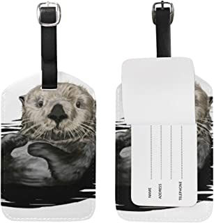 Sea Otter Luggage Tags Travel ID Labels Tag For Baggage Suitcases 1 Piece