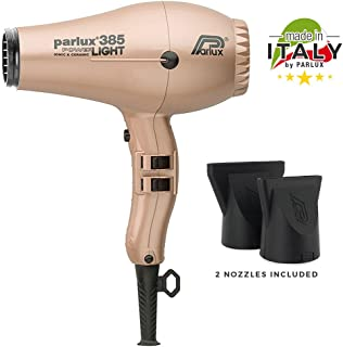 Parlux 385 Power Light Ceramic and Ionic Eco-friendly Professional Hair Dryer (Light Gold
