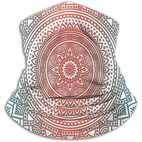 Linger In Türkis Ombre Mandala Antique Gypsy Cosmos Nackenwärmer Gamasche Sturmhaube Ski Maske Gesichtsmaske Hüte Kopfbedeckungen