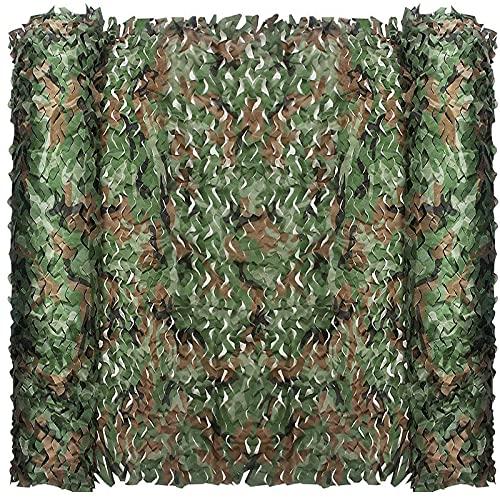FullLit Tarnnetz, Camouflage-Netz, Jalousien, Sonnenschutz, Zaunnetze, leicht und wasserdicht, ideal für Party-Dekoration, Baldachin, Foto, Autoabdeckung (Woodland, 10 m 1,5 m)