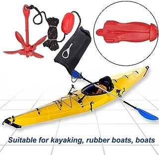 Aluminium Wurfanker Ankerset F/ür Kleine Boote Motorboot SUP Paddle Board-Boot Kanu Klappanker Mit Seil 7M Exuberanter Faltanker