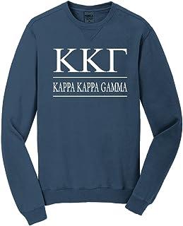 Sorority Letters Shop Kappa Kappa Gamma Vintage Color Crewneck Sweatshirt