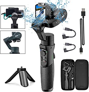 3-Axis Handheld Gimbal Stabilizer for GoPro Action Camera, Splash Proof Gimbal Tripod..