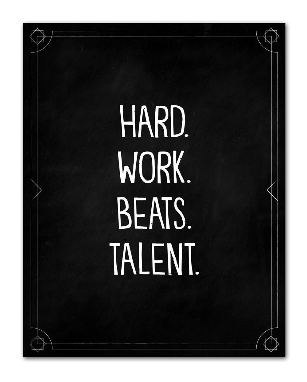 Hard. Work. Beats. Talent. At the price - Blackboard Art Popular brand in the world Wall Motivational