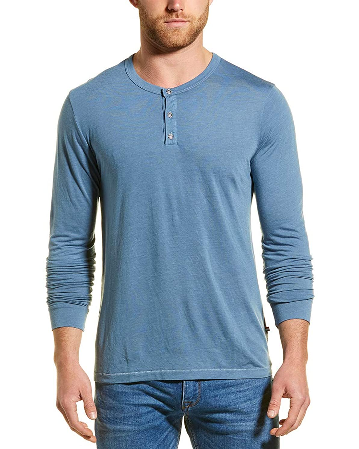 Sol Angeles Mens Essential Henley, XL, Blue