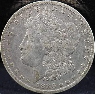 1886 O Morgan Silver Dollar Dollars Ungraded