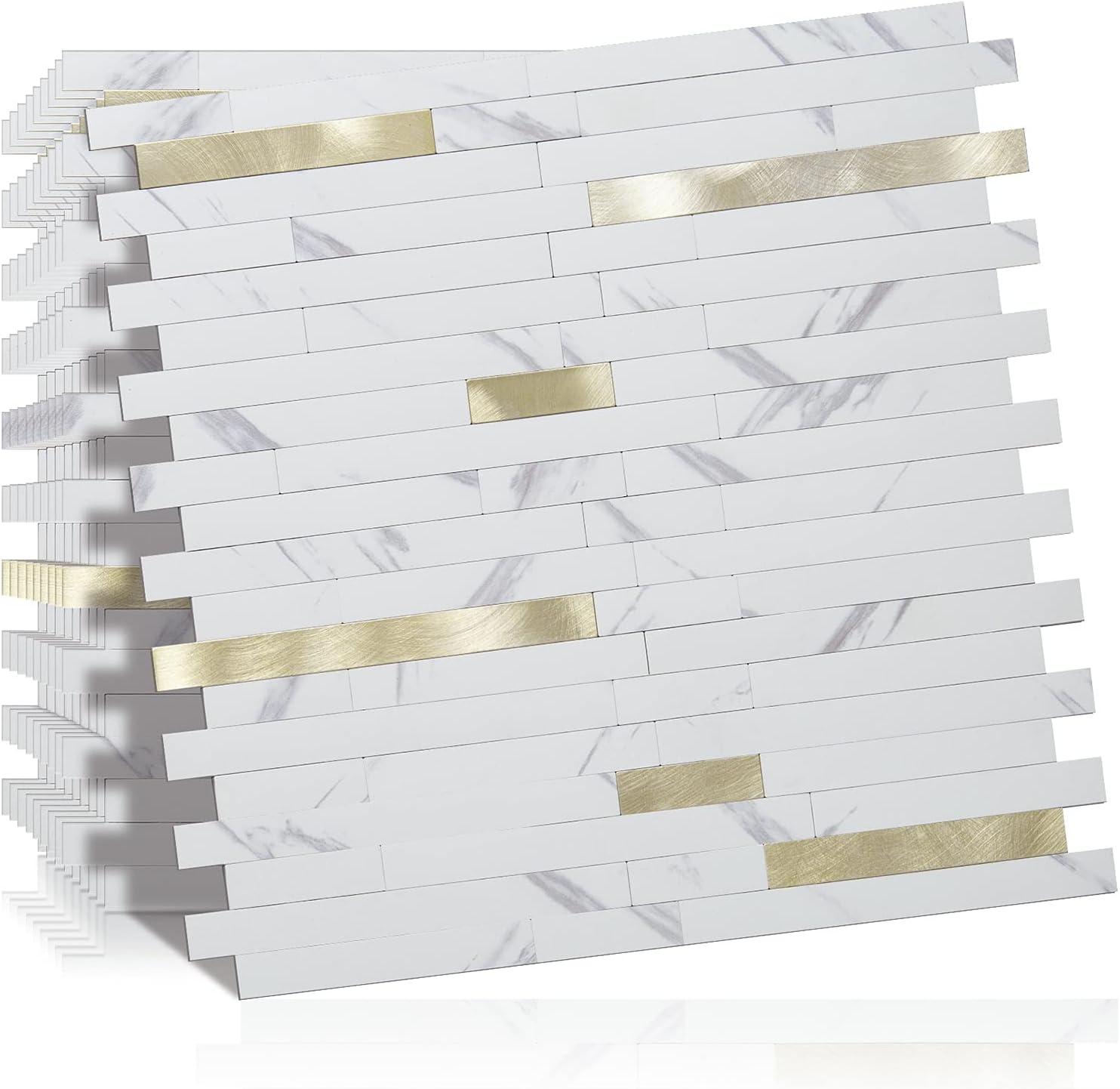 DICOFUN 2021 model 10-Sheet Peel and Stick Kitche Wall Quantity limited PVC Backsplash Tile