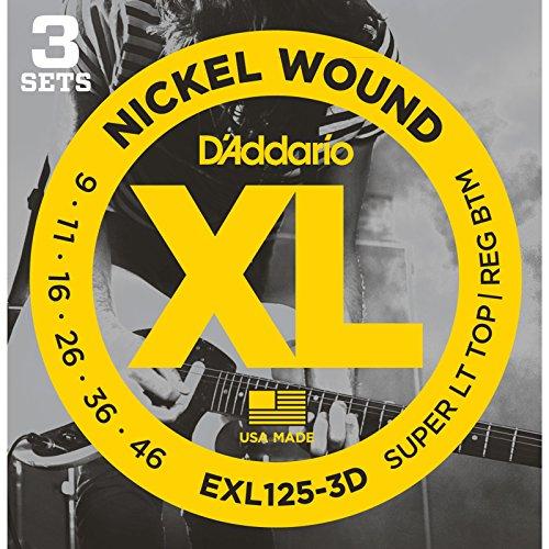 D'Addario EXL125-3D Electric Guitar Strings 3-Pack