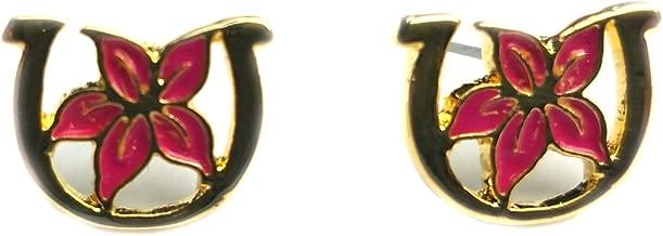 Nitro USA LPGA Kentucky Derby Women's Kentucky Oaks Lilly Post Earring, One Size, Pink