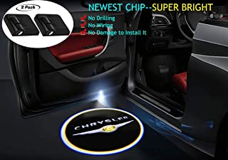 2Pcs for Chrysler Car Door Lights Logo Projector, Car Door Led Projector Lights,Wireless Car Door Welcome Logo Lights for Chrysler All Models
