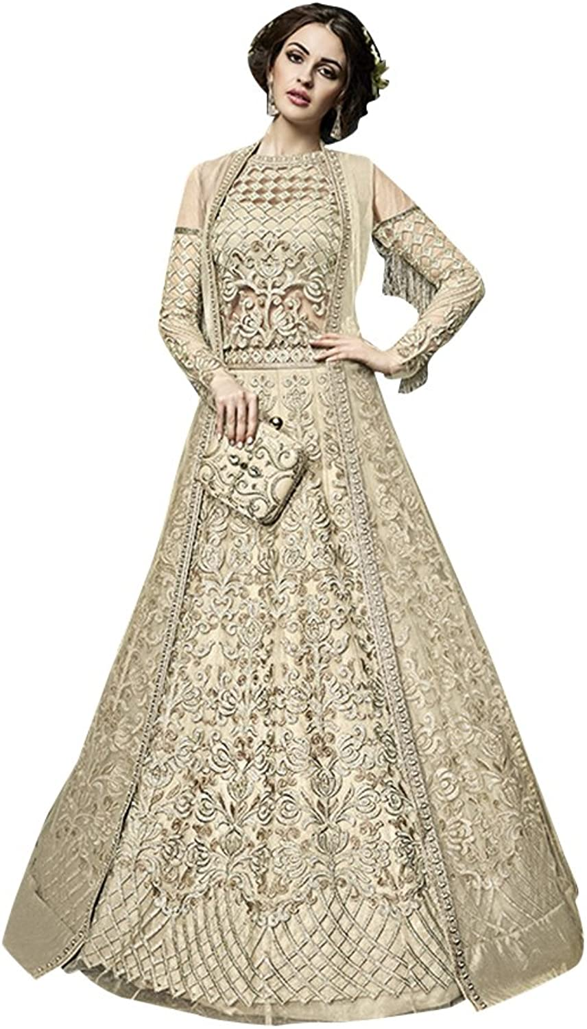 Bollywood Collection Anarkali Salwar Kameez Suit Ceremony Women Bridal Muslin 734 18