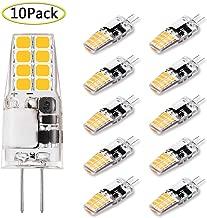 G4 LED Bulb 3W Equivalent to 20W-25W T3 JC Type Bi-Pin G4 Base Halogen Bulb, AC/DC 12V Warm White 3000K G4 Light Bulb for Puck Light, RV, Under Counter Kitchen Lighting, Under Cabinet Light (10 Pack)