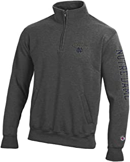 Elite Fan Shop NCAA Mens Quarter Zip Sweatshirt Arm Charcoal
