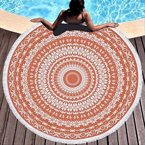 Ronde strandhanddoek met kwastje yoga mat sprei tapijt deken absorberende microvezel
