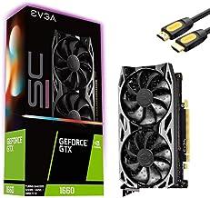 EVGA GeForce GTX 1660 SC Ultra Graphics Card, 6GB GDDR5,...