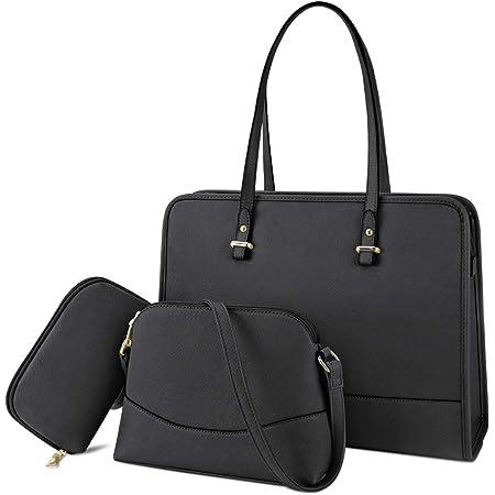 Handtasche Set Damen Shopper Groß Tasche Schwarz Leder Handtasche Elegant Umhängetasche Schultertasche Geldbörse 3-teiliges Set für Büro Schule Einkauf Reise
