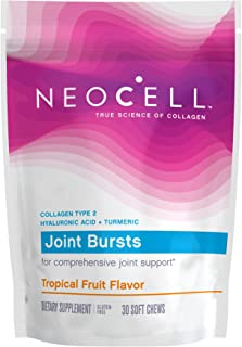 NeoCell Joint Bursts, Type 2 Hydrolyzed Collagen Plus Joint Support, Tropical Fruit Flavor, 30 Chews (Package May Vary)