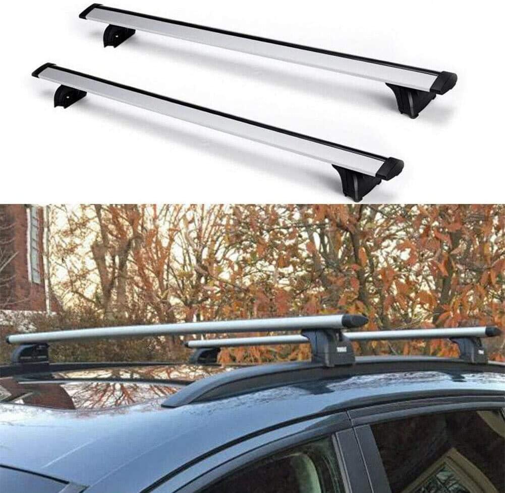 Ai CAR FUN Aluminum Alloy Silver Ra Bar Roof Price reduction Top 5 popular Cross Rack