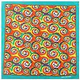 DAKIFENEY Pañuelo bohemio con degradado para la cabeza del arco iris, pañuelo cuadrado, color 3