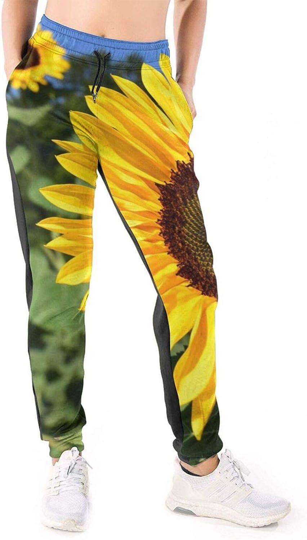 Women's Cotton Sweatpants Holstein SunflowersCoz Cow in Standing Superlatite Overseas parallel import regular item