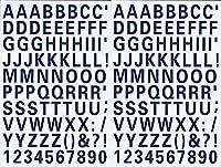 (シャシャン)XIAXIN 防水 PVC製 アルファベット ナンバー ステッカー セット 耐候 耐水 ローマ字 数字 キャラクター 表札 スーツケース ネームプレート ロッカー 屋内外 兼用 TS-539 (2点, ネイビー)