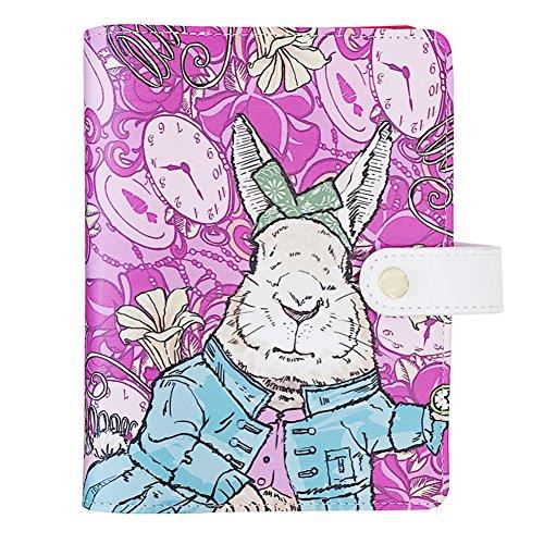 labon's システム手帳 A6 リフィル キャンパスノート ミニ6穴 リング径25mm ラボンス イラストレーション ルーズリーフ (紫のウサギ)