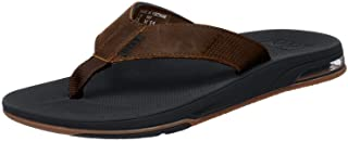 Reef Men's Leather Fanning Low Flip Flops