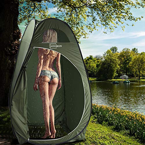 Pop-up Changing Room Privacy Tent - Instant Portable Outdoor Shower Tent, Camp Toilet, Rain Shelter for Camping & Beach - Lightweight & Sturdy, Easy Set Up, Foldable - with Carry Bag