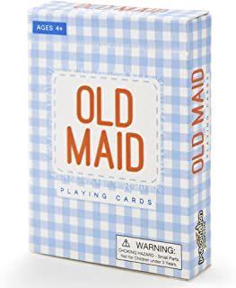 Old Maid Illustrated Card Game   Classic, Vintage Kids Playing Card Game with Vibrant, Colorful Illustrations of 22 Careers   Classroom Learning Activity for Quick Thinking, Strategy, and Patterns