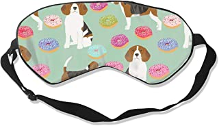 Beagle Donut Cute Beagles And Donuts Design - 100% Silk Sleep Mask Comfortable Non-Toxic, Odorless and Harmless,Soft Blindfold Eye Mask Good for Travel and Sleep