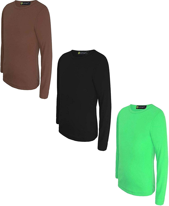 LOTMART Kids Long Sleeve Basic Top Bundle Pack of 2 Colours