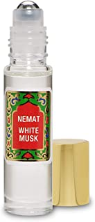 White Musk Perfume Oil Roll-On - White Musk Fragrance Oil Roller (No Alcohol) Perfumes for Women and Men by Nemat Fragrances, 10 ml / 0.33 fl Oz