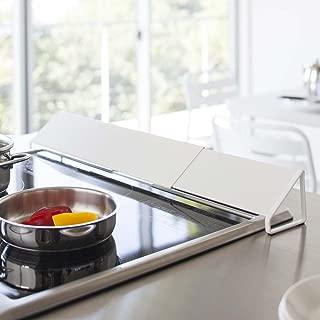 排気口カバー キッチン 伸縮 ガスコンロ コンロ奥 カバー シンプル おしゃれ ホワイト B078YP773D