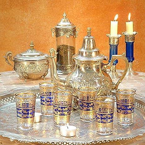 Bleu albena Marokko Galerie 17-100 Tunis 6 Verres /à th/é orientaux