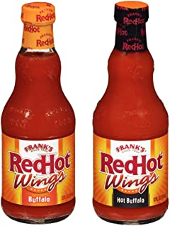 Frank s RedHot Wing Sauce Variety Pack Buffalo and Hot Buffalo Pack of 2